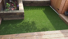 Artificial grass installation in Fulham, London