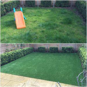 Battersea artificial grass garden installation by Astro London