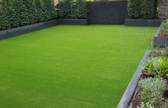 Before Specialised/Sports 30mm plastic grass installation
