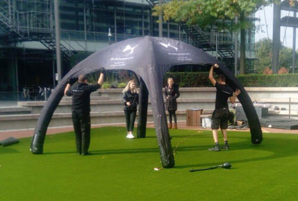 Astrolondon team doing free astro turf maintenance