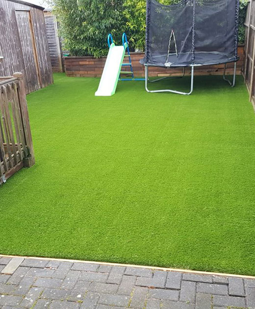 Artificial grass insallation in a Bexely Playground