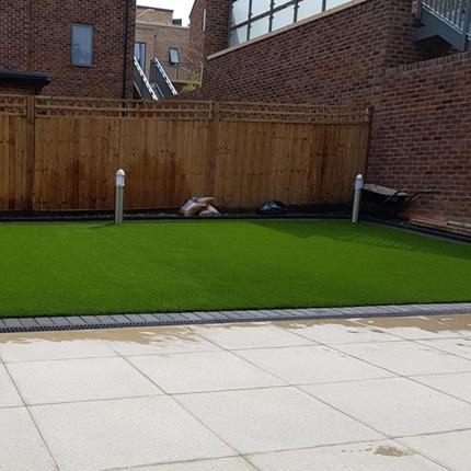 Artificial grass insallation in a Merton school/college