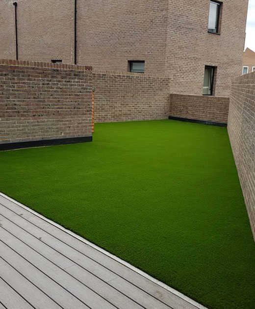 Artificial grass insallation in a Richmond school/college