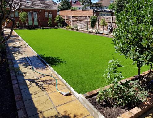 plastic grass garden in west london