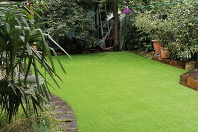 garden after artifical grass installation