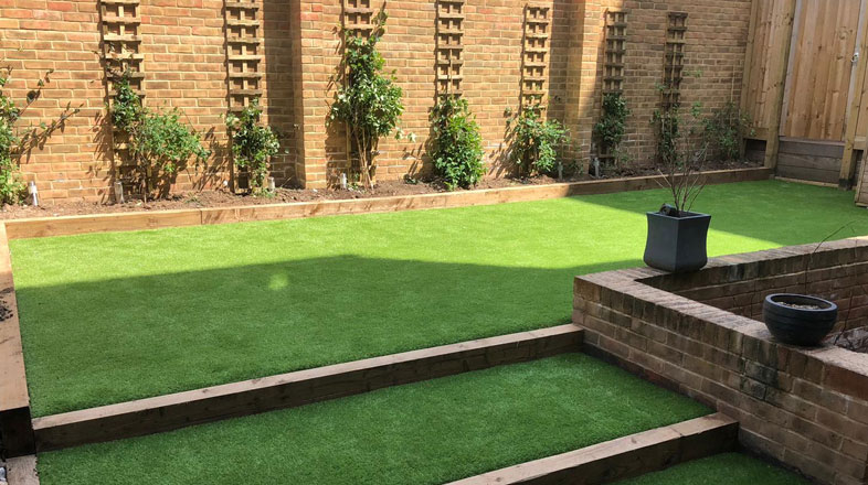synthetic grass installation by AstroLondon in West London