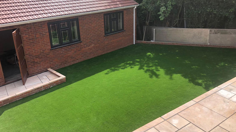 artificial grass installation in East London by AstroLondon
